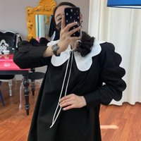 Casual Dresses VANOVICH Korean Style Women Dress 2022 Autumn Cotton Sleeve Long Solid Color Clothing