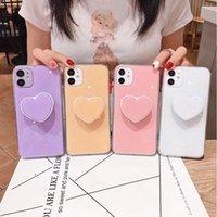 Ekoneda Cute Coração Telefone Caso para iphone 11 Pro Xs Max X XR SE 2020 6 6S 7 8 PLUS LUXO Glitter Stand Case Capa