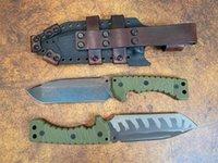 Spedizione veloce Survival Survival Straight Knife Z-Wear Tanto Point Blade Full Tang Green G10 Maniglia G10 Coltelli tattici a lama fissa con Kydex