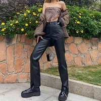 Women's Jumpsuits & Rompers trousers synthetic leather, ask for women's pants spring fall high waist division leisure motorcycle 3HDA