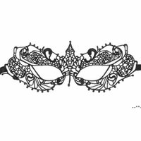Black Women Sexy Lace Eye Mask Party Masks For Masquerade Halloween Venetian Costumes Carnival Mask For Anonymous HHB8860