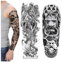 Full Arm Flower Arm Big Pattern Ветер Лев Характер Татуировка Вода Передача Татуировки Наклейка Татуировки Наклейка