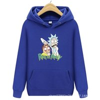 HoodieMen's and women's Hoodie Rick and Morty printed casual sports fleece fashion hip hop sweater