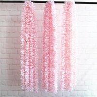 Decorative Flowers & Wreaths 1m 2Pcs Artificial Flower Vines Silk Hydrangea Rattan Fake Wisteria DIY Wedding Arch Home Decor Hanging Floral