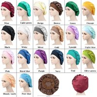 Night Sleep Hat Hair Care Cap Women womens designer hats Fashion Satin Bonnet cap Silk Head Wrap Hair Loss Caps wholesale
