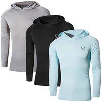 Jeansian 3 팩 남성 UPF 50+ UV Sun Protection 야외 긴 소매 티 셔츠 Tshirt T 셔츠 비치 여름 LA271 PACKE 210304