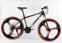 26 inch 21 speed three knife one wheel mountain bike adult cross country bicycle high carbon steel mountain bike red