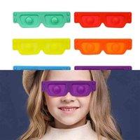 Kids boys gilrs sensory fidget glasses eye mask silicone halloween cosplay eyeglasses props I am a master novel children's glass eyewear fancy ball costume G108N2J