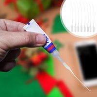 500 stücke Klebstoff Micro-Tipps Kleber Dosierröhrchen Extender Präzisionsapplikator