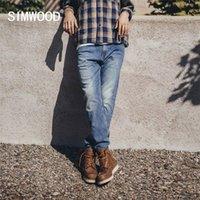 Simwood Spring зима старинные регулярные прямые джинсы мужчины плюс размер джинсовые брюки высококачественные бренд одежда SJ130846 210317