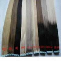 Cinta en Extensiones Ombre Hair 40pcs Remy Human Hair Straight Ombre Piel Extensiones de cabello