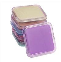 Квадратные макияжные зеркала портативные мини косметические зеркала олова тарелка Compact Pocket Pocket маленькое двухстороннее зеркало сладкое простое акриловое море HWC6058