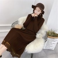 Casual Dresses Dressed in women's mesh long sleeve, autumn , knitting gowns, turtlenecks, lace, party dress, pz76 lace. 7SYP