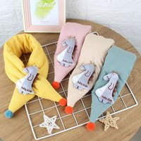 2020 new children's scarf autumn winter cute cartoon knitting cotton clip baby neck boys girls keep warm and cold