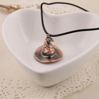 Pendant Necklaces Movie Logo 3D Porter Series Magic Hat Snitch Time Hourglass Necklace Harry Enthusiast Gift Leather Jewelry