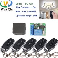 Smart Home Control Wenqia 433MHz Universal Remote DC 12V 10A 1CH Transmitter For Electric Curtain And Garage Door Switch