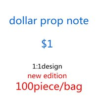 New US Dollar Movies Sales Hot Counting Money prop 1 usd Fake Bank Note Festive designers Games Toys Collections Party Gifts bags toys- Kvex