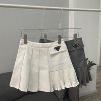 High Waist Pleated Skirt Dress Female 21 Autumn Irregular Korean Half Skirts Short College Style Skirt Spice Casual Dresses