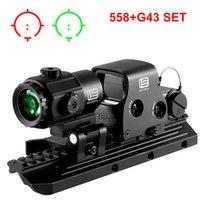 558 Ponto Vermelho Holográfico Vista 558 + G43 G33X Magnifier de Visão Colimadora Reflexo de Visão com 20mm Escopo Holográfico Vermelho / Verde Iluminado