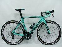 Bianchi الكربون الطريق الكامل دراجة فريق لوتونل جامبو مع 105 R7010 Ultegra R8010 Groupset Groupset Cosmic 50MM Wheelset