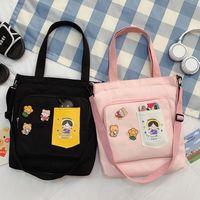 Tide Canvas Lady College Handbag Backpack Women's Bag Shoulder Student Class Messenger Single Style Large-capacity Cxbgc