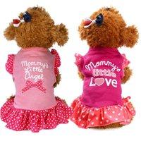 Chica Puppy Dress Mommy's Little Angee Bebé Bowtie Wave Princess Vestido Pet Dog Teddy Hiromi Polka Dot Manga Rosa