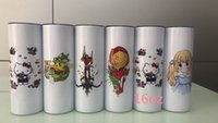 50 piece 20oz Sublimation Skinny Tumblers Straight Tapered blank white tumbler with lid straw rubber bottom 20 oz Stainless steel vacuum insulated sippy cups
