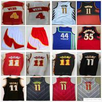 Ucuz Vintage Rerto Basketbol Spud 4 Webb 8 Steve Smith Vince 15 Carter 44 Tabanca Pete Maravich Dikembe 55 Mutombo Trae 11 Young Jersey