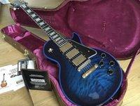 جديد قياسي مخصص.تقال لهب الأزرق اللون الغيتار الكهربائي. 3 بيكو.