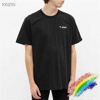 """Heavy Stoff T-Shirt Text Schaumdruck Männer Frauen """"T-Shirt"""" T-Shirt """"T-Shirt-Kragen bestickte Tops"""