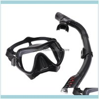 Diving Masks Scuba Water Sports & Outdoors1 Mask Respirator Kit Snorkeling Mirror Set Sile Suit For Men And (Black) Drop Delivery 2021 Seamj