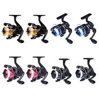 Pro Beros 2pcs LL200 Metal Spinning Wheel Carrete de pesca 5.2: 1 Rueda de pesca con ruedas de pez volador