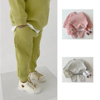 Clothing Sets Baby Tracksuits For Girls Cotton Knitting Pullovers Tops+Pants Clothes Boys Born Toddler Outfits Loose