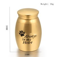 Pendant Necklaces Loss Of Love Memorial Urn Cremation Jewelry Engravable Gold Plating Mini Jar For Human  Animal Ashes Keepsake Casket
