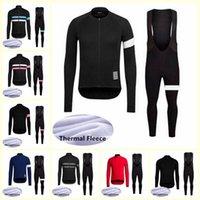 Rapha Team Cycling Vélo Thermique Thermique Jersey Bib Pants Pantalons Ensembles Nouveau Mens Vêtements Cyclisme Vêtements de sport en plein air U101511