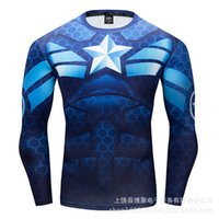 Men's T-shirts Boju 3d Printed Usa Team Long Sleeve Tight Sports T-shirt Quick Drying Clothes