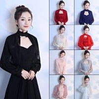 9 colores de encaje estolas nupciales envolturas de verano mujeres bolero abrigo de boda chal chaqueta de noche elegante Mariage