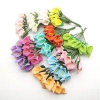 Decorative Flowers & Wreaths 144pcs Mini Foam Calla Lily Artificial Flower Bouquet Decoration Wedding Valentine's Day Gift