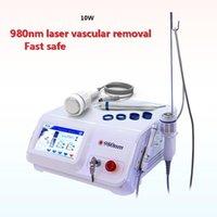10W 980NM العنكبوت الأوردة آلة إزالة الليزر للبيع / إزالة الأوعية الدموية 980nm الليزر / CE المعتمدة الدوالي الأوردة