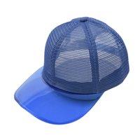 Couleur solide maille transparente chapeaux de poneytai creux Bun Bun Bublier de baseball net chapeau de camionneur chapeau d'été Summer Sun Caps adulte par mer LLA857