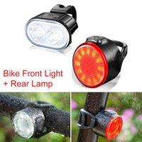 Lumières de vélo 2 PCS LED Lumière de vélo LED rechargeable rechargeable rechargeable et arrière 350MAH Batterie au lithium 4 options de mode pour la route MTB
