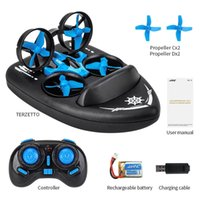 Roclub 3-in-1 RC Quadcopter Drone Mini Helicopter Water-Ground-Air Mode Drone Aircraft Adult Children Dron Toy Gift 210915