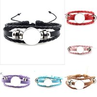 sublimation blanks bracelets Party Favor MDF Braided Hand Rope DIY Photo Valentines Day Gift RRD10965