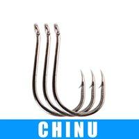 Fishing Hooks 1pack الحجم 1 # 1-0 # 2-0 # 3-0 # 3-0 # 4-0 # 4-0 # 6 # 8 # 10 # 12 # 12 # chinu المياه العذبة عالية الكربون الصلب الشائكة هوك الركيب