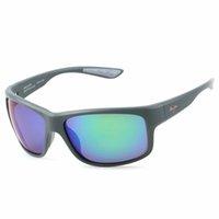 MarkamauijimErkek Güneş Gözlüğü 815-53B Yüksek Kaliteli Polarize Lens UV400 Klasik Marka Lüks Tasarımcılar Güneş Gözlükleri Kadınlar için TR90 Silikon Çerçeve Kılıfı