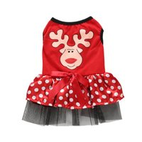 Dog Apparel Pets Dogs Christmas Elk Pattern Costume Winter Clothes For Small Dresses Night Club Party Pet Dress