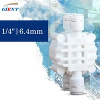 """Watering Equipments Fit 1 4"""" OD Tube Auto Shut Off 4 Way Valve Quick Fitting Connection Aquarium RO Water Filter Reverse Osmosis System"""