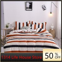 Bedding Sets 1314Aloe Cotton Four-piece Skin-friendly Sanded Three-piece Student Dormitory Single Double Bed Sheet Large Quilt Cover
