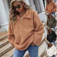 Women's Hoodies & Sweatshirts Plush Women Autumn Winter Fleece Warm Fluffy Double Pullover Loose Soft Thick Hoodie Tops For Teens 2021