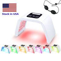 Stok ABD High end 7 renk led foton kırışık lamba ışık terapi güzellik pdt lamba tedavisi cilt akne sökücü anti-kırışıklık taşınabilir spa maske makinesi